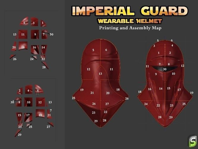 Full scale imperial guard costume mask 30 free 3d for Imperial printing