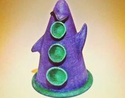 purple tentacle hi res 17mb 3d print model