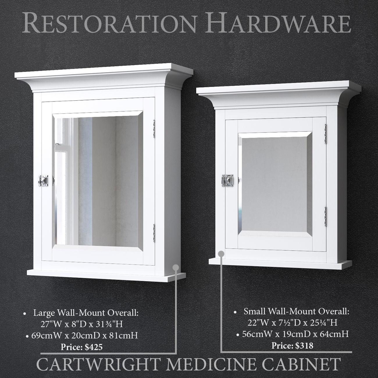 3D model white RH CARTWRIGHT MEDICINE CABINET | CGTrader