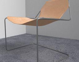 3D model Simple Modern Chair