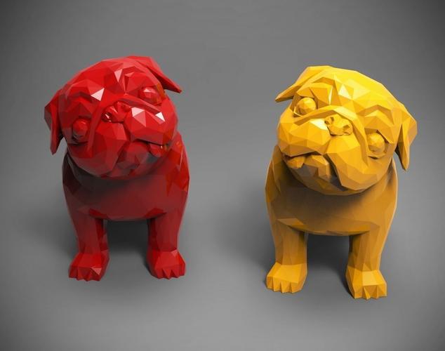 polygon pug 3d model stl 1