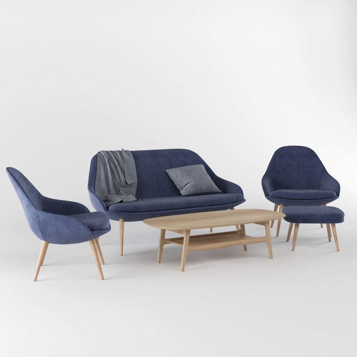 ... Boconcept Adelaide Furniture Collection 3d Model Max Obj Fbx 6 ...