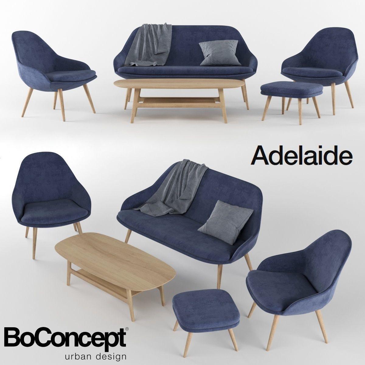 Astounding Boconcept Adelaide Furniture Collection 3D Model Machost Co Dining Chair Design Ideas Machostcouk