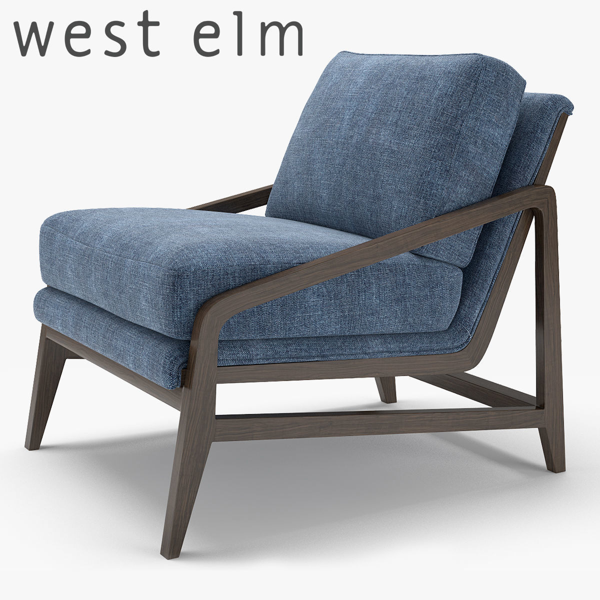 West Elm Peyton Chair 3d Model Max Obj Fbx Mtl ...