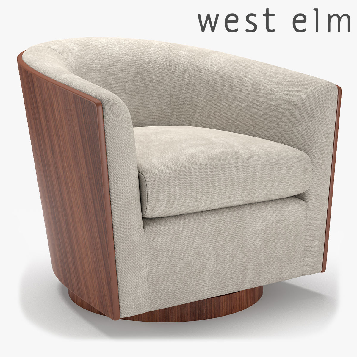 West Elm Luther Swivel Chair