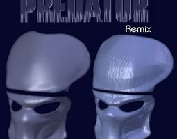 predator mask - hd remix 3d print model
