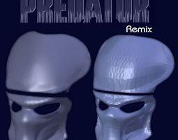3d printable model predator mask - hd remix
