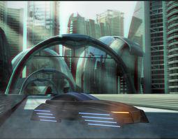 Future Flying Concept Car 3D