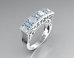 3D printable model Twin wedding rings