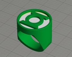 3d printable model dual extrusion green lantern ring