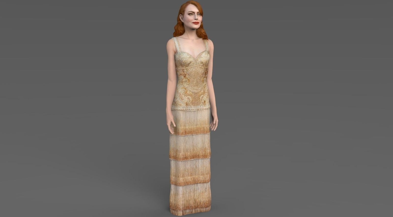 Emma Stone ready for full color 3D printing
