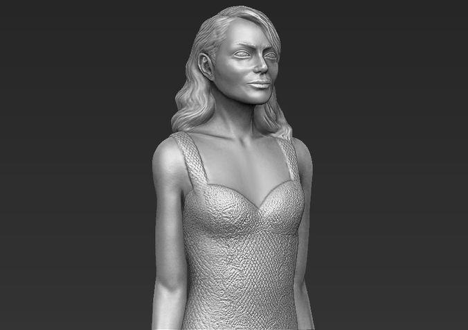 Emma Stone 3D printing ready stl obj formats