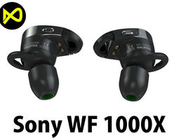 Sony 1000X Wireless Noise Canceling Headphones 3D model