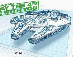 3d print model millennium falcon v1 1