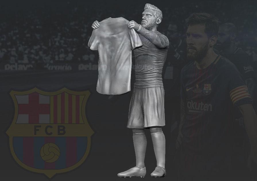 Lionel Messi 3D printing ready stl obj formats 3D print model