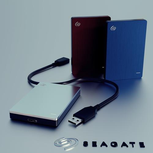 seagate backup plus slim 3d model and office tools 3d model low-poly obj mtl 3ds fbx blend 1