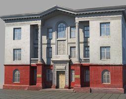 3D asset Classic building facade 04