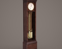 Standing clock time 3D model