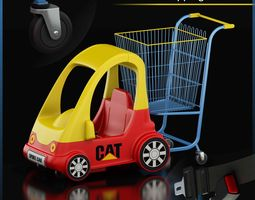 refuse 3D model Shopping Cart
