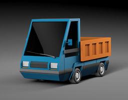 Cartoon electric car v2 3D asset