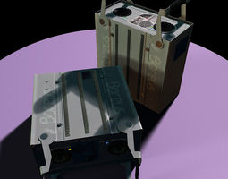 Scientific rack harddrive 3D Model
