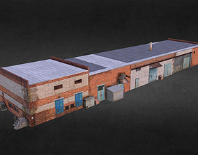 Garage Low Poly 3D asset