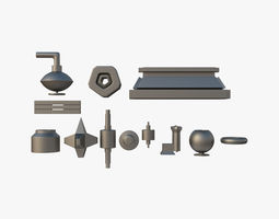 3D model Kitbash Set 01