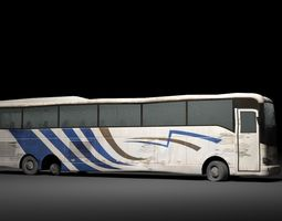 realtime The abandoned bus 3D model