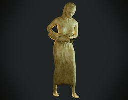 Female Statue 3D asset VR / AR ready