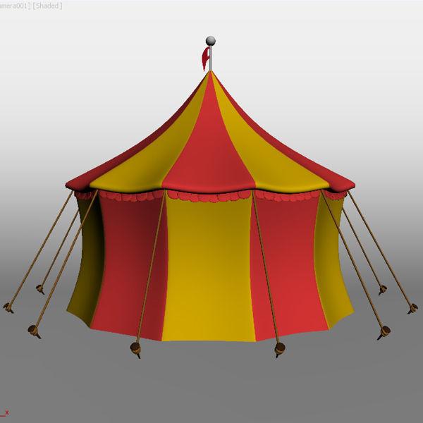 ... circus tent 3d model max obj fbx ma mb mtl 2 ... & Circus Tent 3D | CGTrader