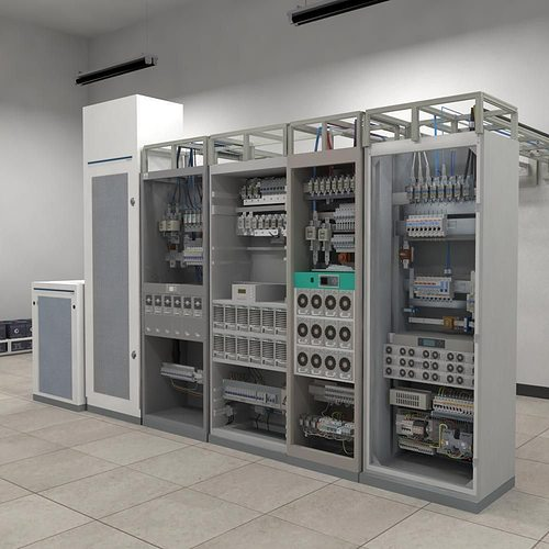 telecom power center room 3d model max obj mtl fbx 1