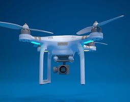 3D model quadrocopter drone high detailed