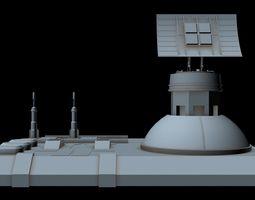 spacecraft 3D model Sci-fi Radar station 3