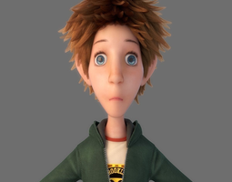 3D model Cartoon Boy rig