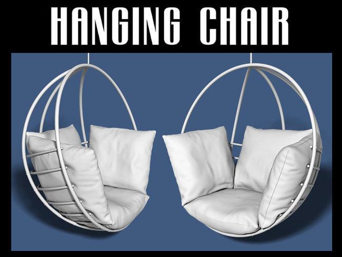 hanging chair 3d model obj mtl fbx blend dae 1