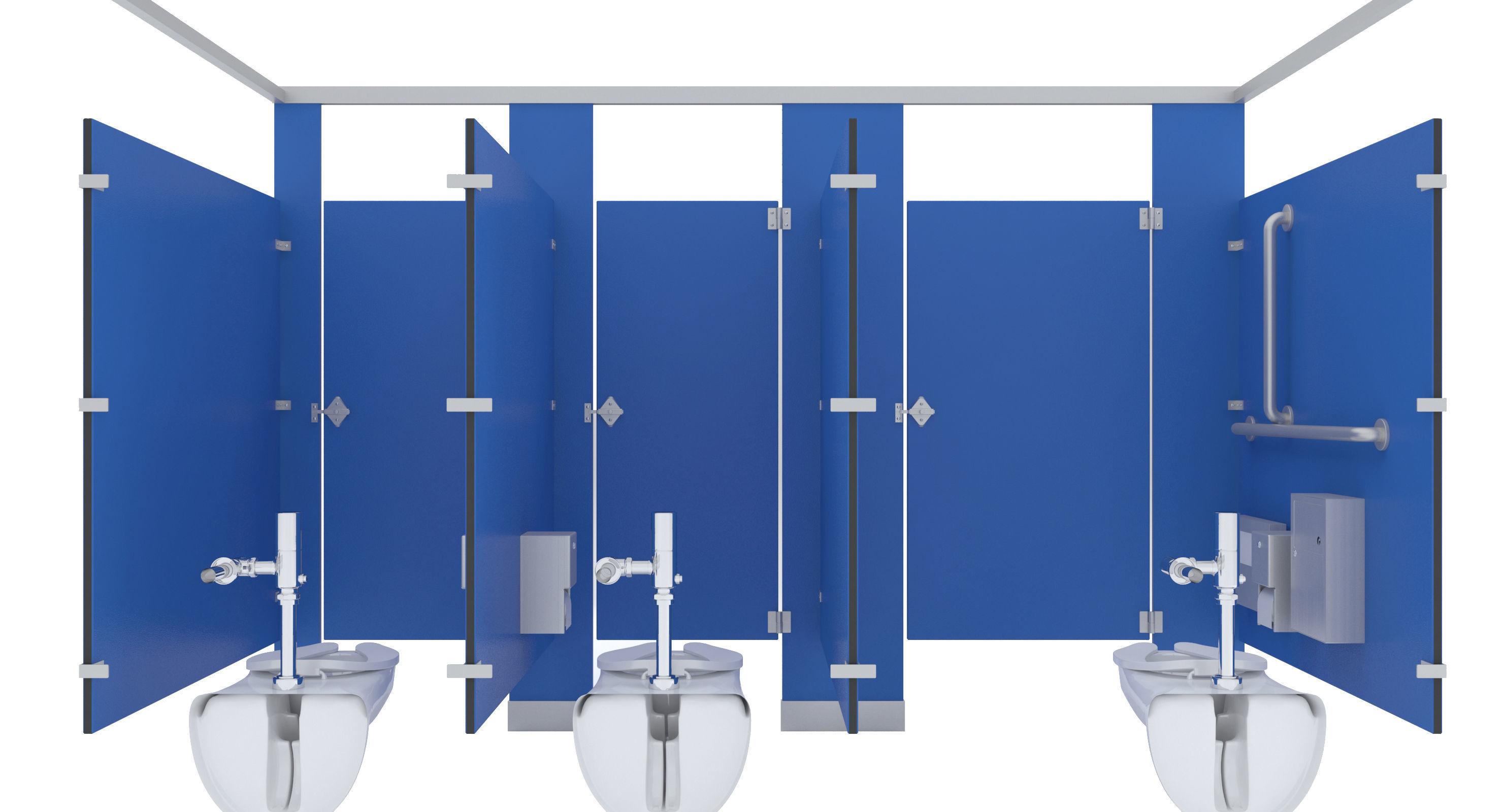 Bathroom Stall Model toilet stall-002b 3d | cgtrader