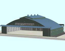 Japan Self-Defense Force Air Craft Hanger 3D