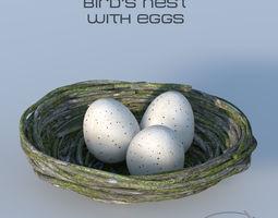 3D animals Bird Nest