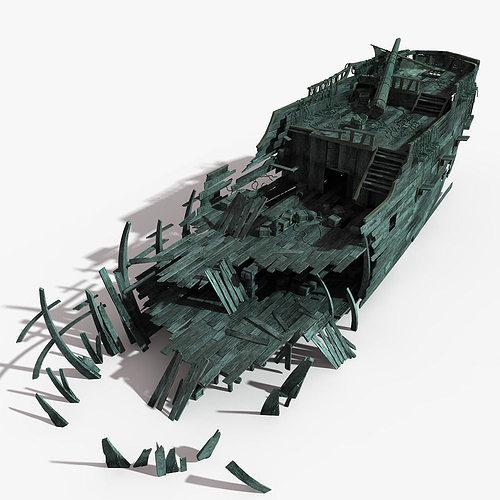 shipwreck 03 3d model max obj fbx mtl tga 1
