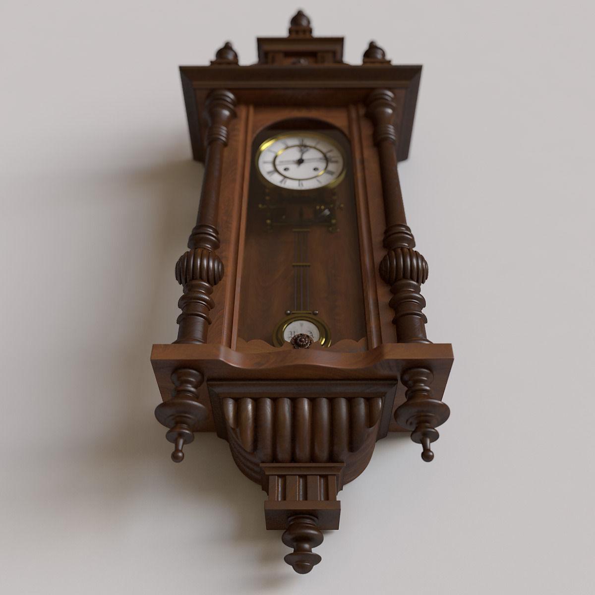 Antique Pendulum Wall Clock 3d Model Max Obj Cgtrader Com
