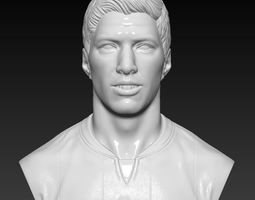 Luis Suarez -FC Barcelona - player bust handmade 3D print