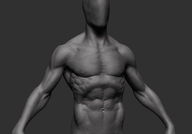 hero figure 3d model obj mtl ztl 1