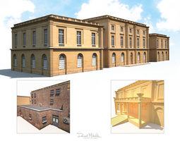 Public Building 167 Low Poly 3D model
