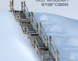 3D Wooden Stairs