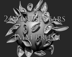 3D model 24 Ears plus IMM brush