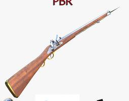 3D asset English musket FPS Brown Bess