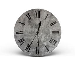 3D model Concrete Wall Clock