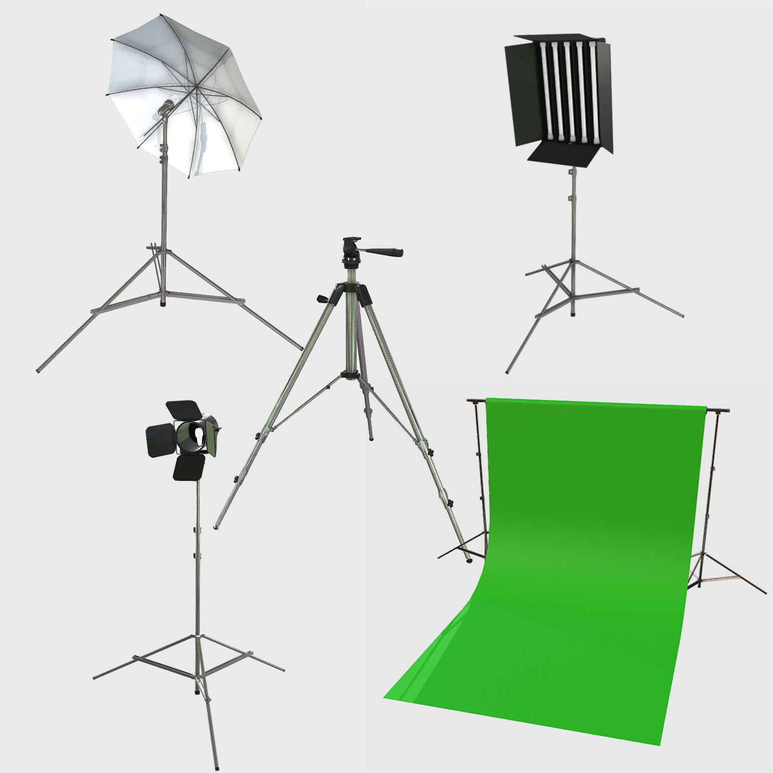 Collection of Low Poly PBR Studio Camera Props