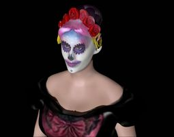 3D print model Catrina Color