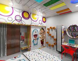 Childrens Bedroom Kids bedroom 3D